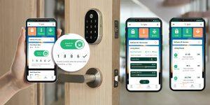 digital-key-on-lock